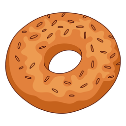 Ilustración de comida bagel