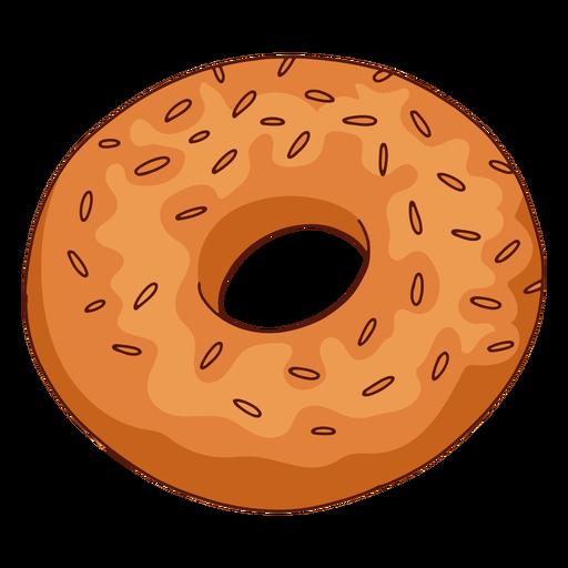 Bagel food illustration