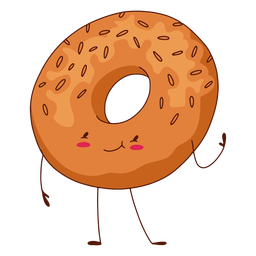 Bagel character illustration