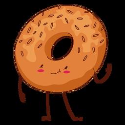 Ilustración de personaje de bagel