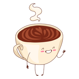 Happy coffee cup illustration