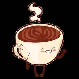Ilustración de taza de café feliz