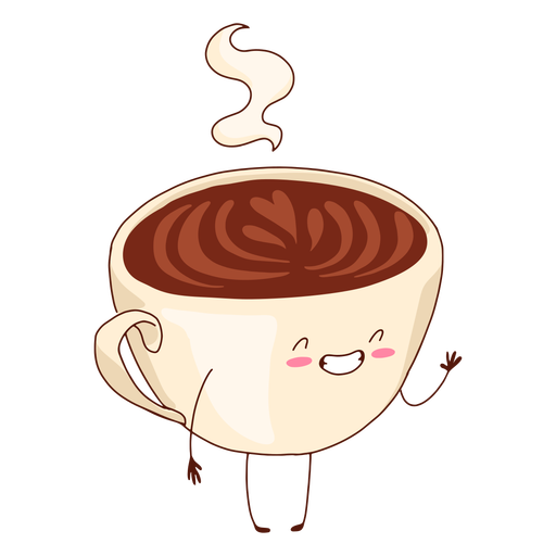 Happy coffee cup illustration Transparent PNG