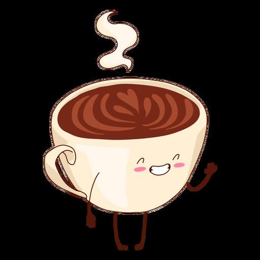 Ilustraci?n de taza de caf? feliz
