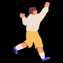 Niño feliz corriendo personaje