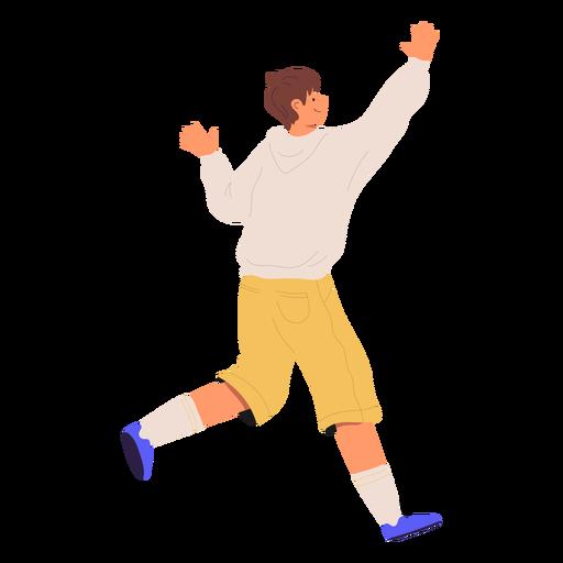Happy boy running character