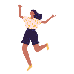 Girl character running