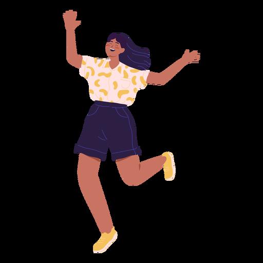 Carácter de niña corriendo