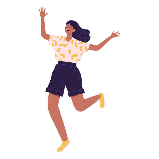 Girl character running