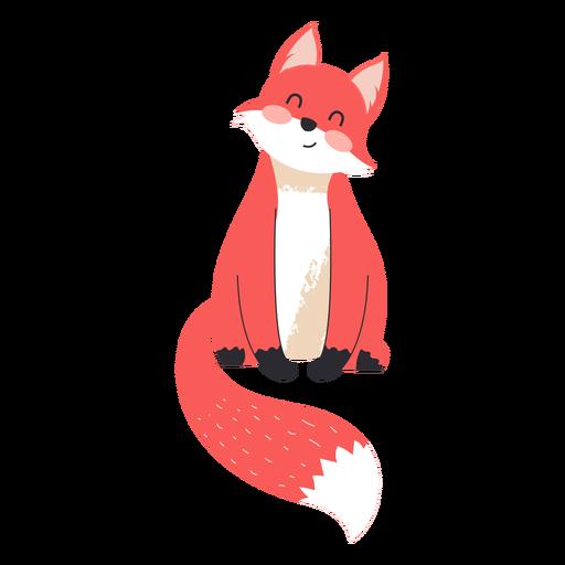 Cute fox flat
