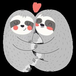 Sloths hugging flat
