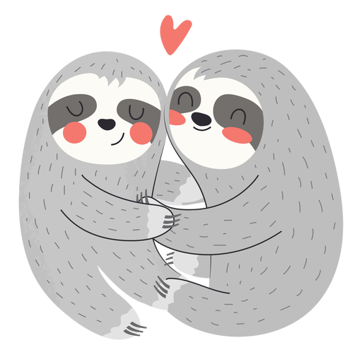 Preguiças abraçando o apartamento