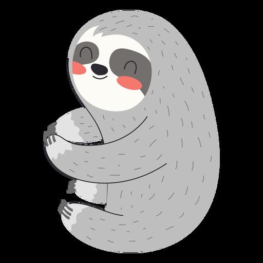 Cute sloth flat