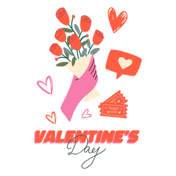 Valentine's day badge