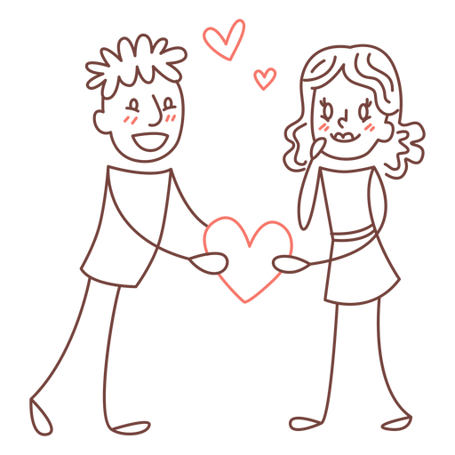 Shared heart doodle