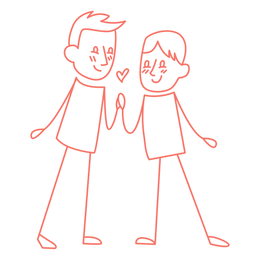Gay couple doodle