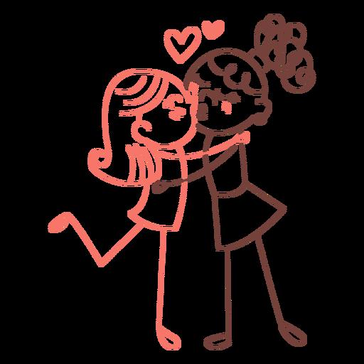 Lesbian couple doodle