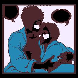 Gay couple comic pannel