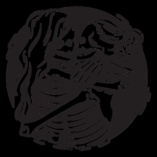 Ilustración de grunge de pareja esqueleto