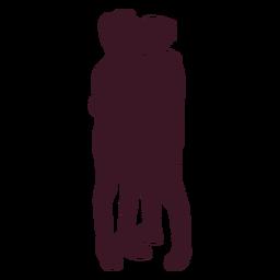 Gay couple hug silhouette