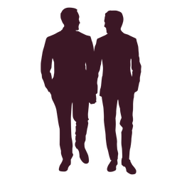 Couple men holding hands silhouette