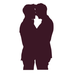 Romantic gay couple silhouette