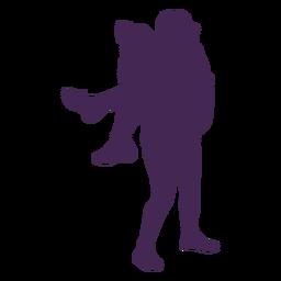 Lesbian couple romance silhouette