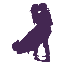 Lesbian couple kissing silhouette