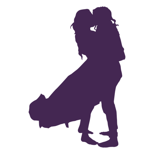 Lesbian couple kissing silhouette