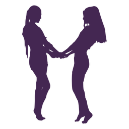 Lesbian couple hands silhouette