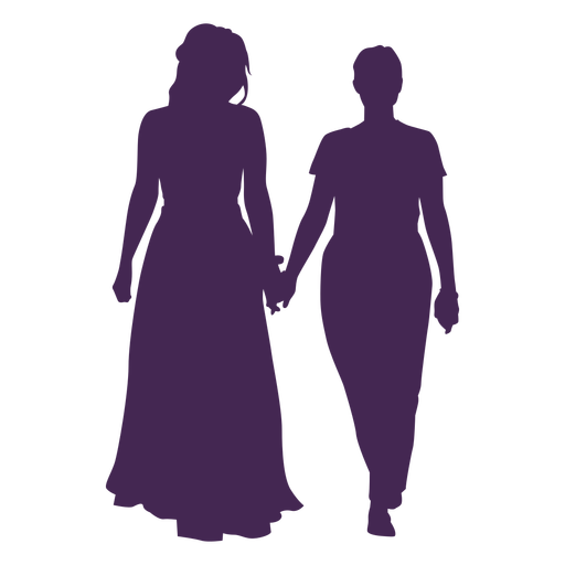 Silueta de boda lesbiana