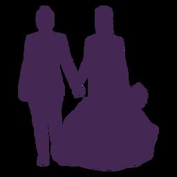 Silhueta de casamento de casal lésbico