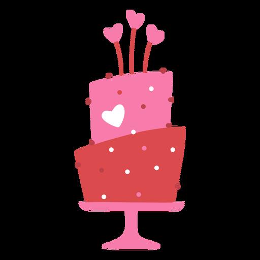 Valentine's cake flat