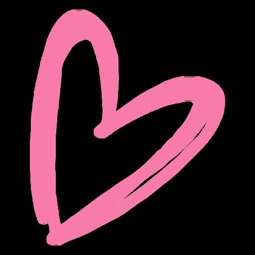 Heart monochrome doodle Transparent PNG