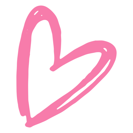 Heart monochrome doodle