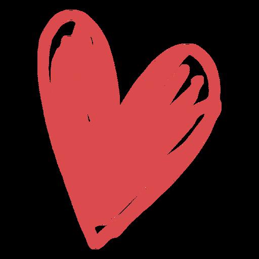 Valentine heart doodle Transparent PNG
