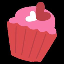 Heart cupcake flat