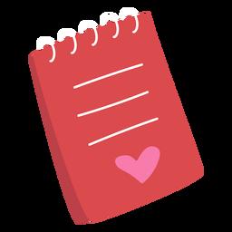 Valentine notepad flat