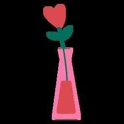 Flower vase heart flat