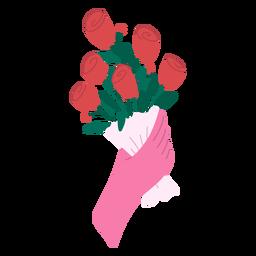 Rose bouquet flat