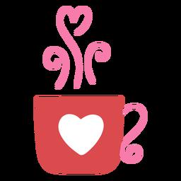 Heart coffee cup flat