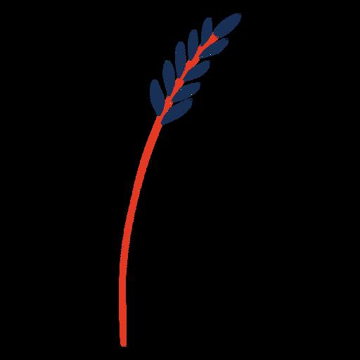 Wheat plant flat