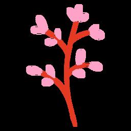 Pink petals flat