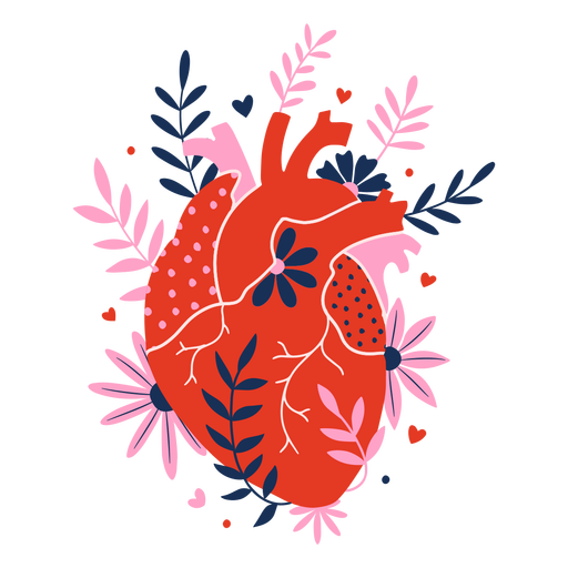 Flower heart flat