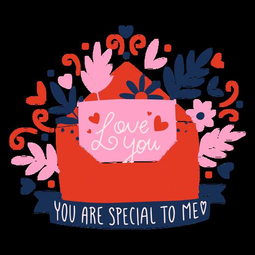 Insignia de carta de amor