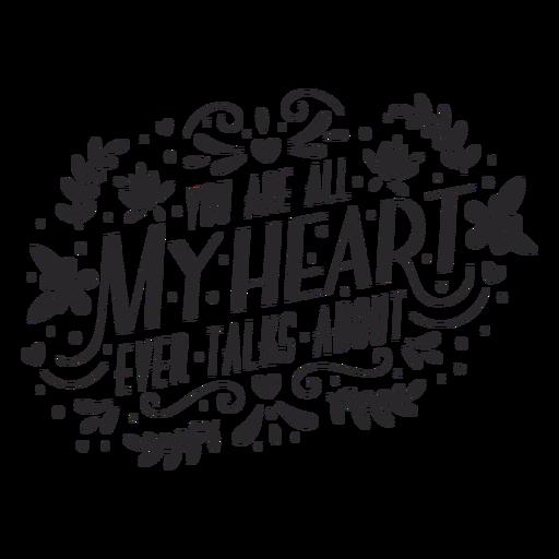 Eres mi corazón letras Transparent PNG