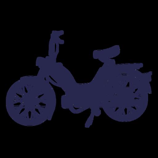 Cool motocicleta silueta