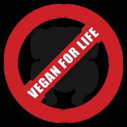 Vegan for life badge