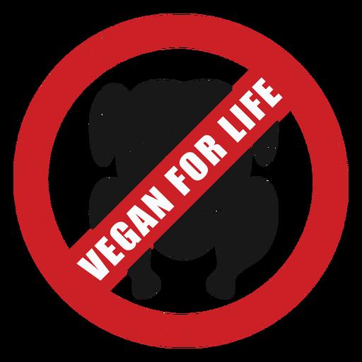 Insignia vegano de por vida