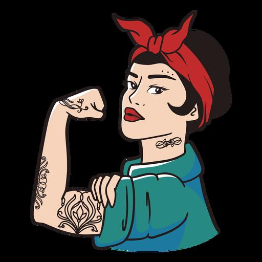 Ilustración de personaje de mujer fuerte